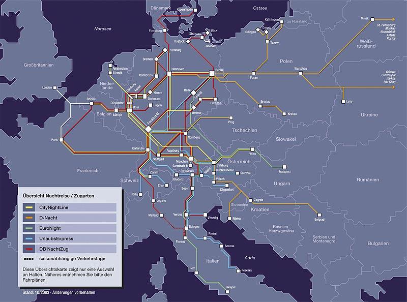 schienennetz europa karte Streckenkarten schienennetz europa karte